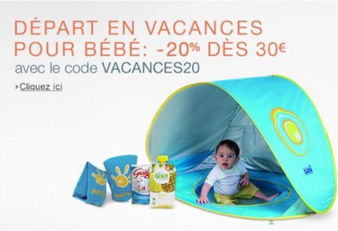 vacances20 promotion amazon